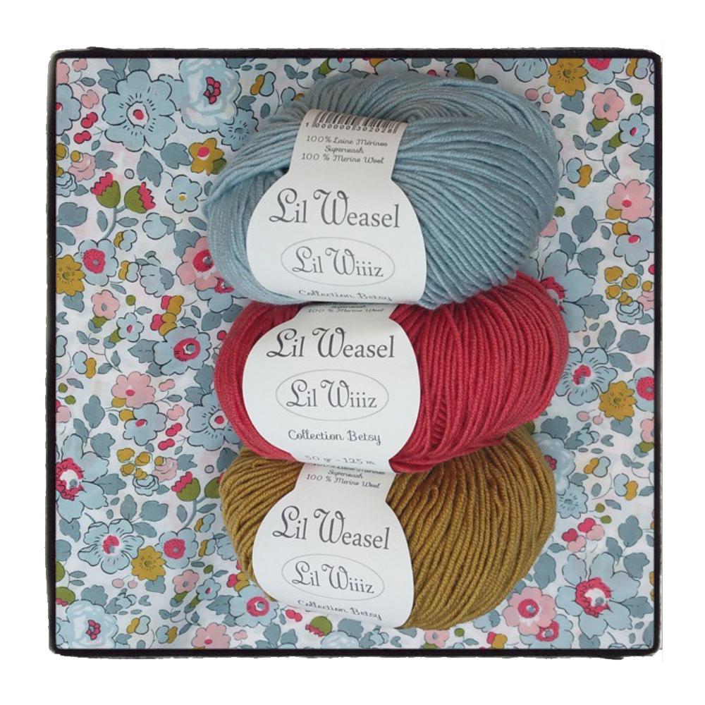 Lil Weasel lance ses nouvelles laines aux couleurs de Liberty Betsy
